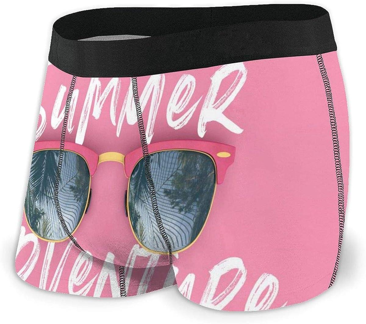 Randolph Wordsworth Mens Boxer Briefs Summer Adventure Sunglasses Pink Breathable Underwear