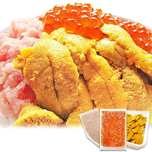 イカ屋荘三郎 海鮮丼セット(無添加 生食用ウニ 100g まぐろのタタキ 100g イクラ醤油漬け 95g) 各1個入 ギフト ヤマキ食品