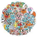 BLOUR 50 unids/Pack El Asombroso Mundo de Gumball Pegatinas de Dibujos Animados de Anime para Casco de monopatín Bicicleta Ordenador Coche calcomanía Juguetes para niños