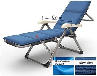 JFya Sillón reclinable plegable sillones reclinables, Cero Gravedad silla reclinable con bloqueo del reposabrazos for acampar de la playa Sun Jardín Hamaca Pausa for el almuerzo perezoso silla del oci