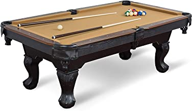 EastPoint Sports Masterton Billiard Pool Table, 87-inch - Features Traditional Claw Legs and Parlor Style Drop Pockets - Includes 2 Cues, Billiards Balls, and Triangle