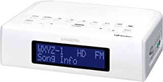Sangean HDR-15 HD AM/FM-RBDS Digital Tuning Clock Radio with USB Phone Charging, White (Renewed)