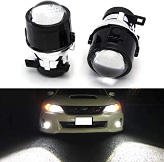 iJDMTOY (2) OEM Replace Projector Fog Light Housings For 08-14 Subaru Impreza WRX/STi & 09-13 Subaru Forester, HID or LED Ready (Bulbs Not Included)