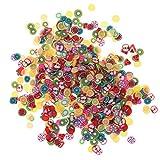 Kinxor - Fimo 3D a forma di frutta, perfetto per decorare slime, per nail art, fai da te e decorazioni, 1000 pezzi
