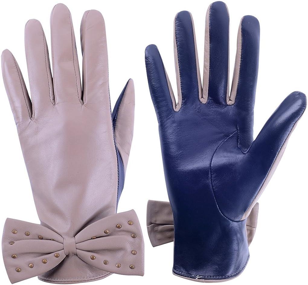 Furoom women's real sheepskin leather glove WINGS