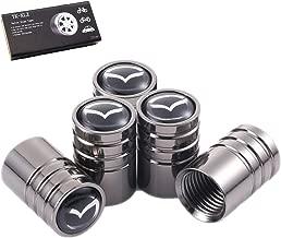 TK-KLZ 5Pcs Chrome Car Tire Valve Stem Caps for Mazda 3 Axela 6 ATENZA MX-5 CX-3 CX-4 CX-5 Decorative Accessories