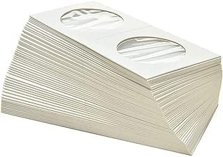para monedas hasta 27,5 mm /Ø paquete de 100 Leuchtturm 333204 Cartones para monedas para Grapar