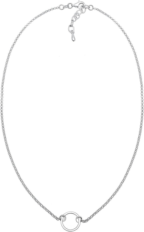 Elli Collares Gargantilla Circular a la moda en Plata de ley 925