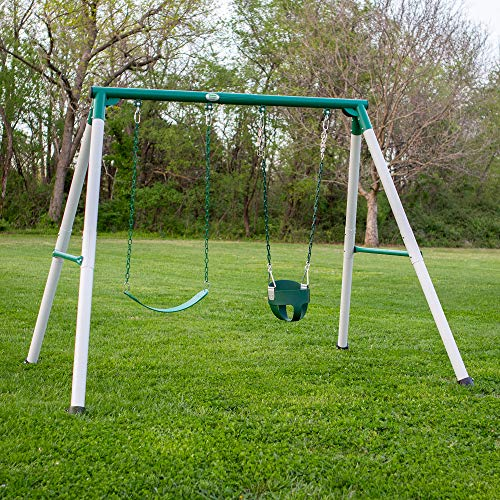 Backyard Discovery Mini Brutus Heavy Duty Metal A-Frame Swing Set