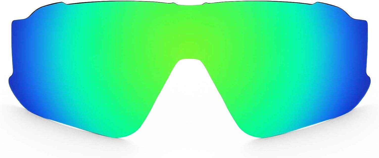 Revant Verres de Rechange pour Oakley Jawbreaker - Compatibles avec les Lunettes de Soleil Oakley Jawbreaker Vert Mirrorshield - Polarisés Elite