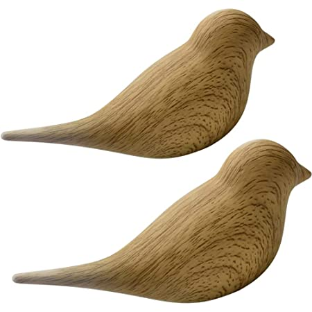 La La Pet 2Pcs 3D Creative Resin Bird Wall Hooks, Home Accessories Wall Decoration Towel Coat Hook Wall Hooks, Natural