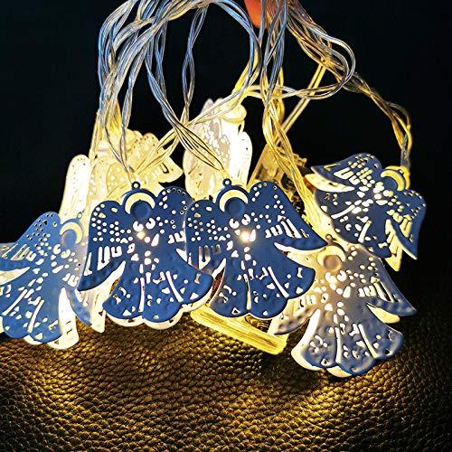 String Lights decoratieve objecten Fairy op batterijen voor slaapkamer binnen en buiten De witte engel heeft de decoratie van de lantaarn uit de lichtketting van de lantaarn