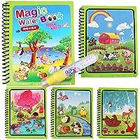 モンテッソーリぬりえ落書き & マジックペン画の描画ボード子供のおもちゃマジックウォーター描画ブック誕生日ギフト