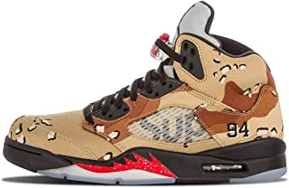 [ナイキ] Air Jordan Retro 5 V Supreme Desert Camo 824371-201 [並行輸入品]