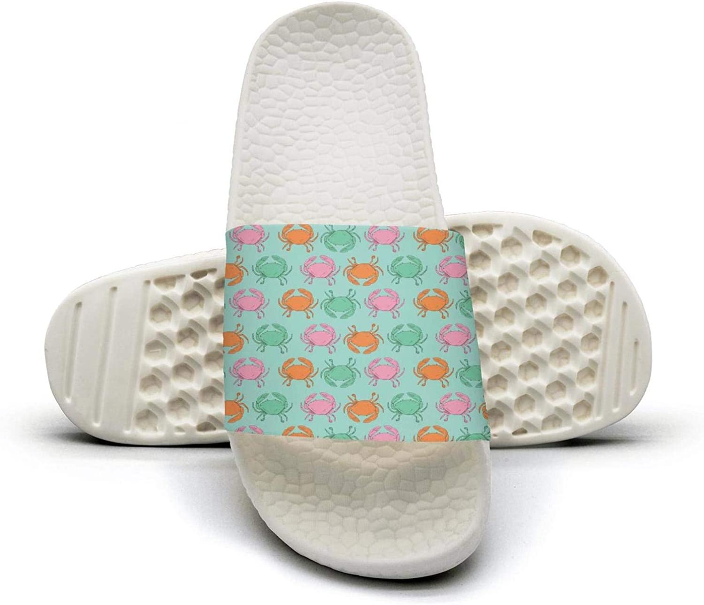 Pretty Women Crab Fun Hipster Pattern Slip on Beach Sandals and Anti-Slip Shower Slipper Comfort Sandals