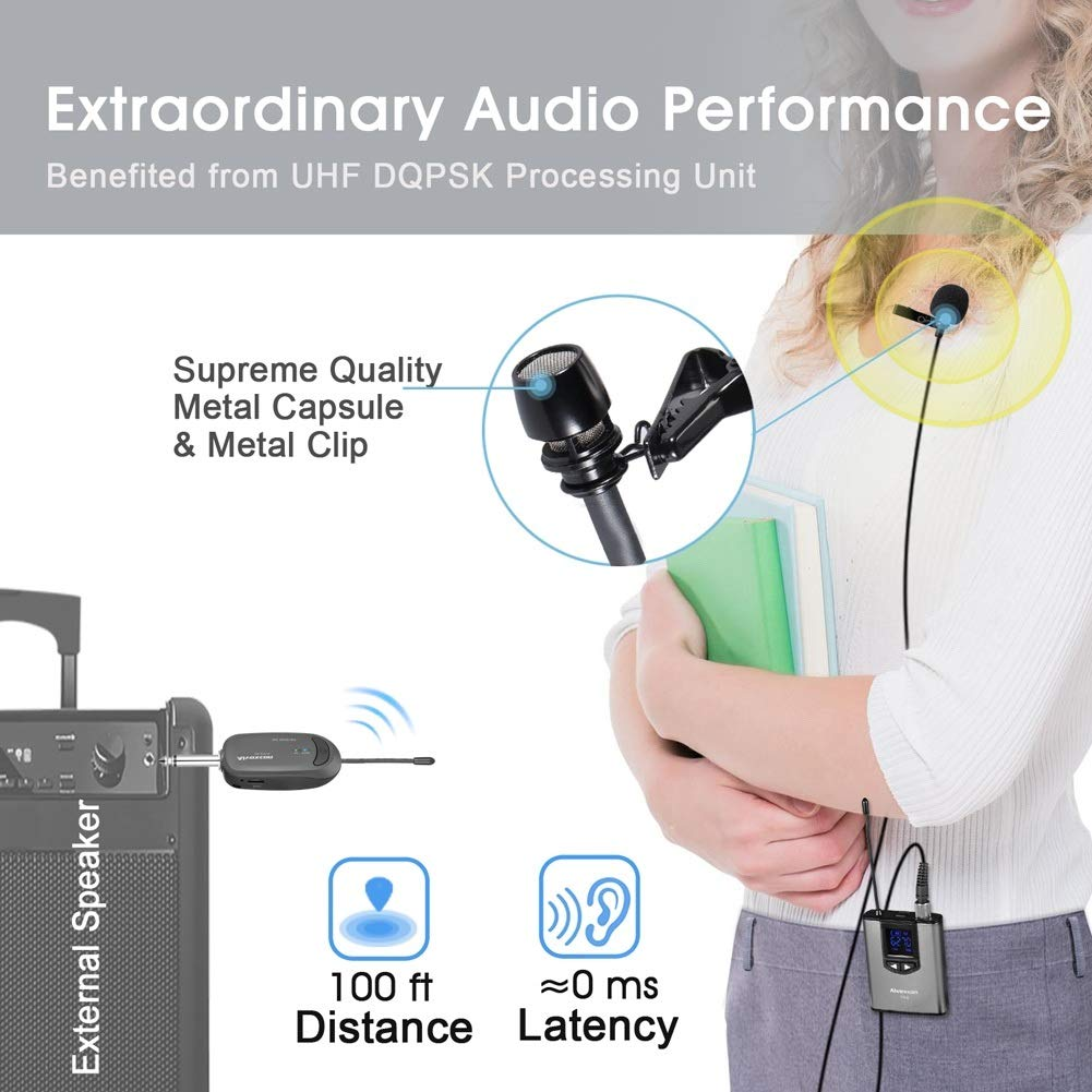 8CFA External Clip-on Lapel Lavalier Microphone 3.5mm Jack For iPhone PC New