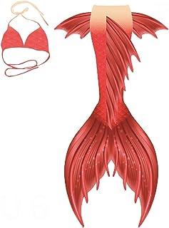 Traje de baño de cola de sirena para niñas con cola de sirena para nadar, traje de baño de princesa, cosplay para niños, p...