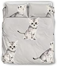 Stormruier Soft Microfiber Comforter Sets Bed Set 3 Piece Bedding Set with Pillow Shams White 168x229cm