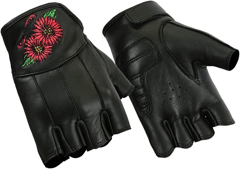 Daniel Smart Women's Embroidered Fingerless Gloves
