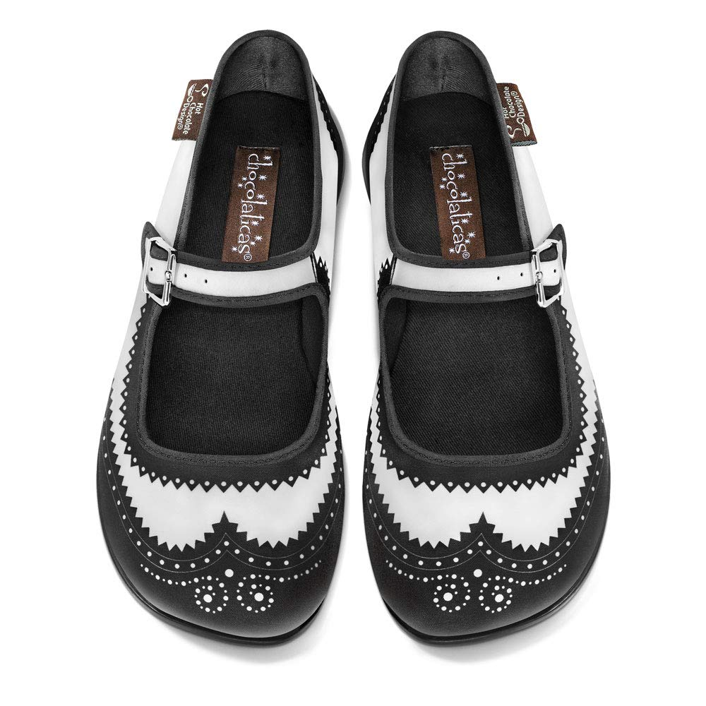 Hot Chocolate Design Chocolaticas Funky Canvas Women's Mary Jane Flat Shoes