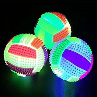 CactusAngui LED Flashing Color Changing Bouncing Massage Hedgehog Ball Volleyball Kid Toy Outdoor Toys for Baby Children T...