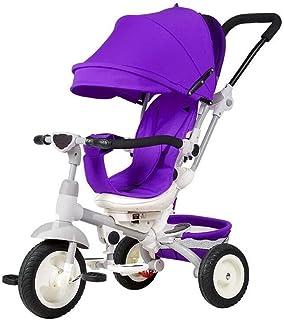 Baby trehjuling Trolley Barn cykelkärra Umbrella Child Bicycle (Color : Purple)