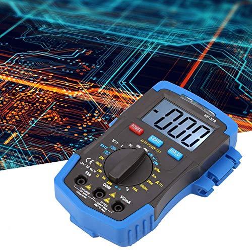 FYYONG Multímetro digital, H-P-37A de luz de fondo LCD multímetro digital DC/AC Tensión Corriente medidor de resistencia Tester