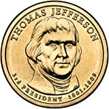 2007 P Position A Satin Finish Thomas Jefferson Presidential Dollar Choice Uncirculated US Mint
