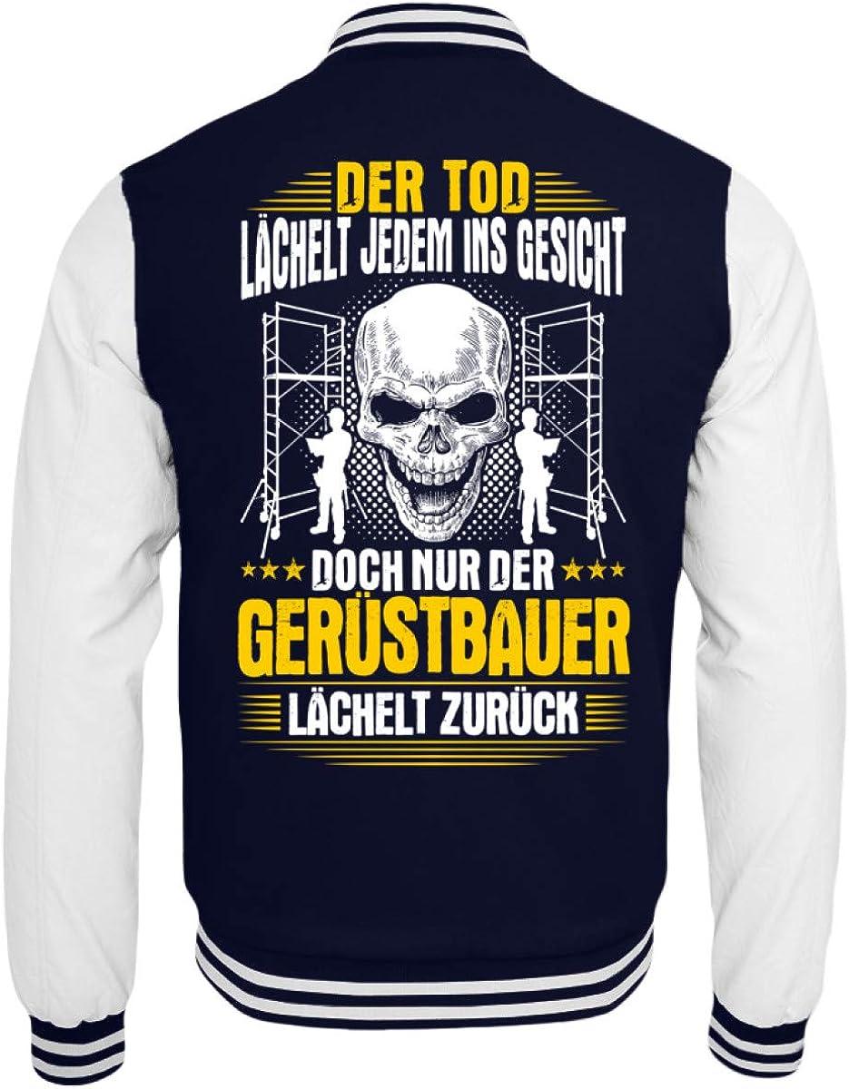 College Sweatjacke Tod /& L/ächeln Shirtee Ger/üstbauer