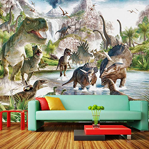 Fototapete Dinosaurier Vlies Tapete Moderne Wanddeko Tapeten Design 3D Wandtapete Wohnzimmer Schlafzimmer Büro Flur Wand Dekoration Wandbilder - 250x175 cm