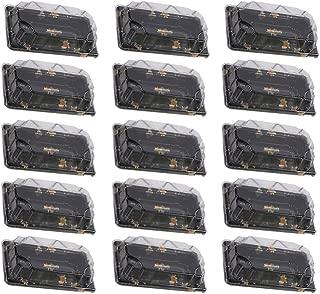 UPKOCH 50 Piezas Cajas de Comida Desechables Rectángular Bandejas Recipientes Contenedor para Sushi Fruta Hamburguesa Galletas
