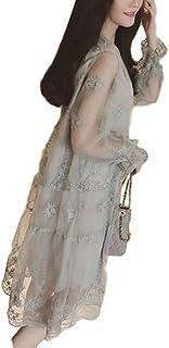 [1/2style(ニブンノイチスタイル)] 花柄 レース 袖 あり グレー ロング 二次会 お呼ばれ 結婚式 ワンピース レディース