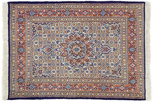 Lifetex.eu Hochwertiger Orientteppich Moud-Muster (ca. 100x140 cm) Klassisch handgeknüpft Schurwolle Mehrfarbig Teppich