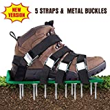 Aunus Lawn Aerator Lawn Scarifier Lawn Nail Shoes with 5 Adjustable Straps and Metal Universal Size Fits Shoes...
