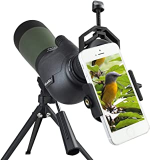 Gosky 20-60 X 80 Porro Prism Spotting Scope- Waterproof Scope for Bird Watching Target..
