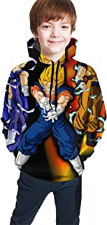 Athletic Pullover Hoodie Hooded Sweatshirt Outwear Tunic Tops for Boys Girls