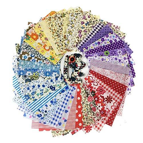 chifans 100pcs 1010cm Farbserien Baumwollstoff Stoffe zum Nähen Patchwork Stoff Paket für Patchwork Baumwolle DIY Baumwollstoff Baumwolltuch mit vielfältiges Muster zum nähen