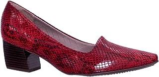 Sapato Feminino Piccadilly Microfibra Salto Geométrico 744017