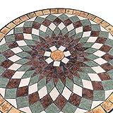 Wohaga® Mosaik Gartentisch rund Ø70cm Mosaiktisch Beistelltisch Bistrotisch Balkontisch - 2