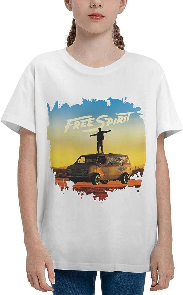 Khalid Free Spirit Mädchen Kurzarm T-Shirts Jungen T-Shirt Tops Sommer Jugend Jungen Mädchen Baumwolle T-Shirts