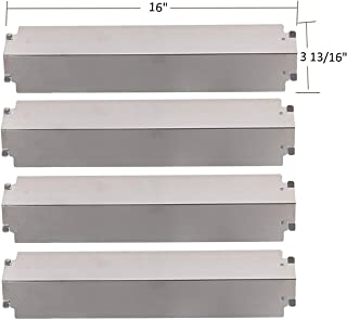 SH3321 (4-pack) Stainless Steel Heat Plate, Heat Shield, Heat Tent, Burner Cover Replacement for Select Gas Grill Models by Charbroil, Thermos, Kenmore Sears, Lowes Model Grills and Others