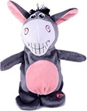TOYMYTOY Talking Donkey Plush Toy repite lo que dices Electronic Stuffed Animal Interactive Toy para niños Early Learning Gift