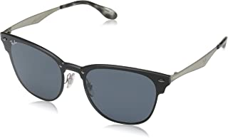 3572 Brushed Silver Metal Clubmaster Sunglasses