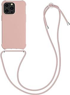 kwmobile telefoonhoesje compatibel met Apple iPhone 13 Pro - Hoesje met koord in parelmoer