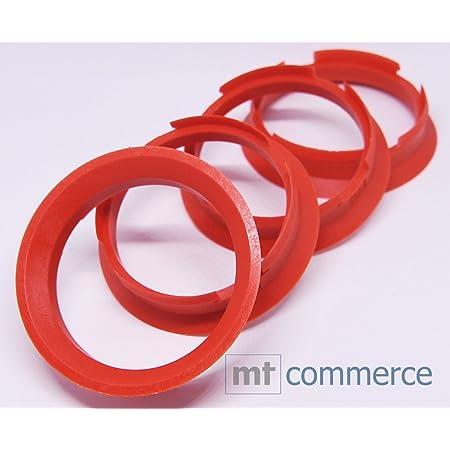 Crk 4x Zentrierringe 63 4 X 57 1 Mm Rot Felgen Ringe Made In Germany Auto