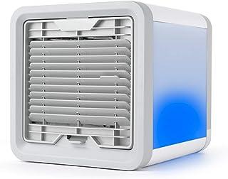 Taurus R300 - Mini climatizador evaporativo, Mini cooler, Aire acondicionado portátil, Mini ventilador, Luz ambiente, 600 ml, 3 velocidades, USB, Ventila, refresca y humidifica, Autonomía 8h,