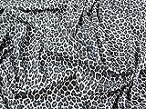 Spanisch Animal Print Stretch Double Crepe Kleid Stoff