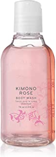 Thymes - Kimono Rose Petite Body Wash - Hydrating Shower Gel with Soft Vanilla Rose Scent - Travel Size - 2.5 oz