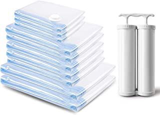 MRS BAG Bolsas Vacio Ropa - 10 Unidades Bolsas de Almacenaje al Vacío (2*Extra Grandes+ 5*Grandes+ 3*Medianas) Bolsas de Vacío para Guardar Ropa, Ropa de Cama, Edredones, Almohadas