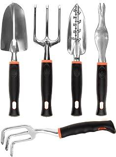 CIELCERA 5 piezas de jardinería conjunto de herramientas con caja de regalo, ideal jardinería regalo